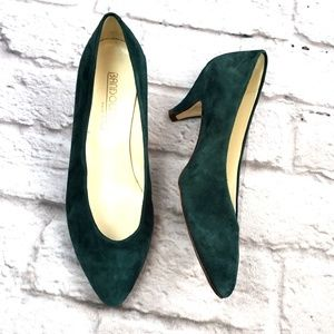 Bandolino Women's Green Suede Classic Pumps